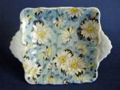 Rare Shelley Fine Bone China 'Blue Daisy' Chintz Dish c1939